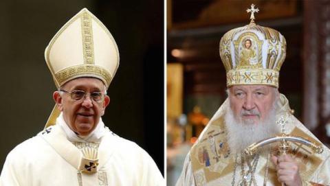 El Papa Francisco y el Patriarca Kiril
