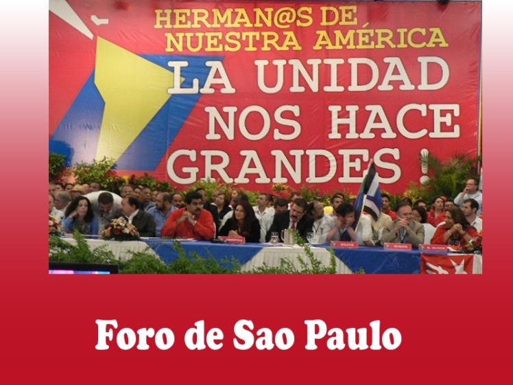 Resultado de imagen para foro de sao paulo venezuela